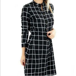 Merona Black and White Plaid Dress